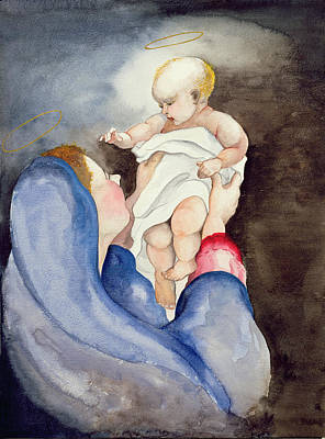 Madonna And Child Poster by Jeanne Maze