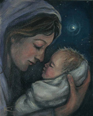 Madonna And Child Poster by Kim Marshall