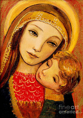 Madonna And Child Poster by Shijun Munns