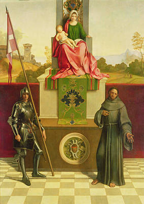 Madonna And Child With Saints Liberale And Francis Poster