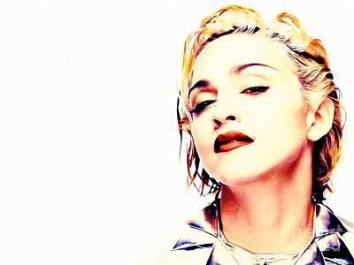 Madonna Poster by Jonas Luis