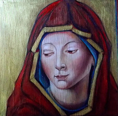 Madonna Of Peace Poster by Irena Mohr