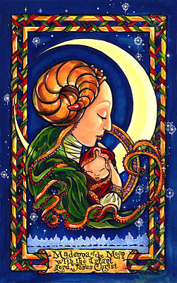 Madonna Of The Moon Poster by Sandra Paradise