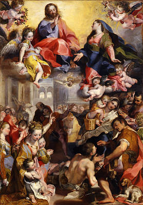 Madonna Of The People Poster by Federico Barocci