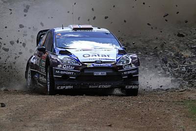 Mads Ostberg Fia World Rally Championship Australia Poster by Noel Elliot