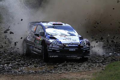 Mads Ostberg Fia World Rally Champonship Australia Poster by Noel Elliot