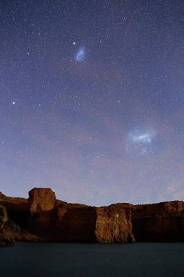Magellanic Clouds Over Cliffs Poster by Luis Argerich