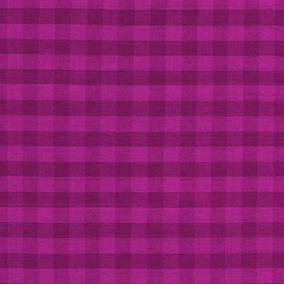 Magenta Checkered Pattern Cloth Background Poster by Keith Webber Jr