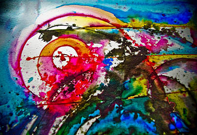 Magenta Spiral Poster by Adria Trail