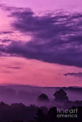 Magenta Sunrise Glow Poster by Thomas R Fletcher
