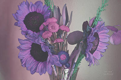 Maggies Flowers In Purple Poster by Steve and Sharon Smith
