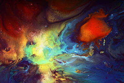 Magic Variety - Contemporary Liquid Abstract Art By Kredart Poster