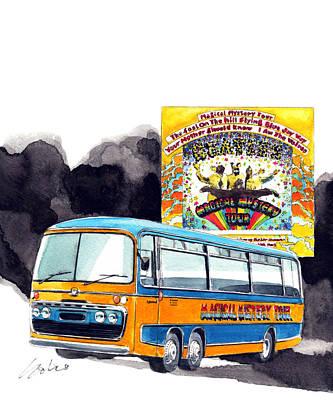 Magical Mistery Tour Poster by Yoshiharu Miyakawa