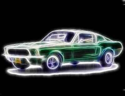Magical Mustang Fastback Poster by Paul Van Scott