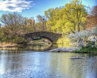 Magical Spring In Central Park Poster by Vicki Jauron