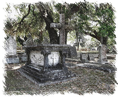 Magnolia Cemetery Poster by Pat Exum