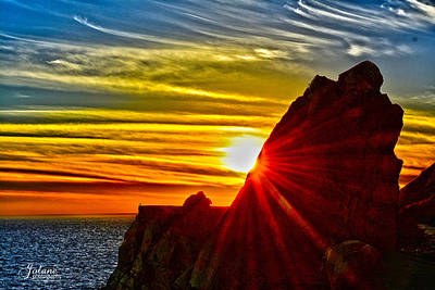 Mugu Rock Sunset Poster