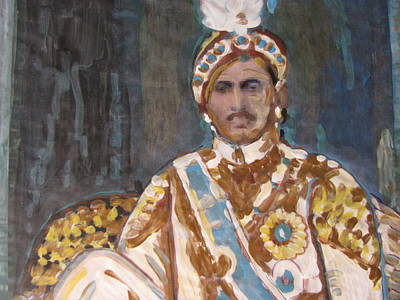 Poster featuring the painting Maharaja Jai Singh by Vikram Singh