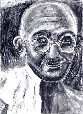 Mahatma Gandhi In Robe Poster by Don Lee