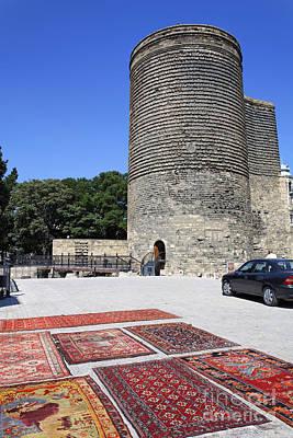 Maidens Tower In Baku Old Town Azerbaijan Poster by Robert Preston