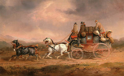 Mail Coaches On The Road The Louth-london Royal Mail Poster