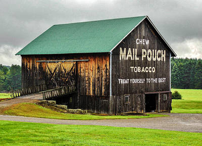 Mail Pouch Tobacco Barn Poster by Anthony Thomas