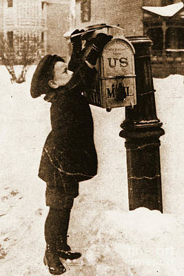 Mailing Letters 1880 Poster