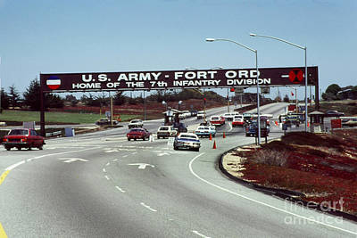 Main Gate 7th Inf. Div Fort Ord Army Base Monterey Calif. 1984 Pat Hathaway Photo Poster