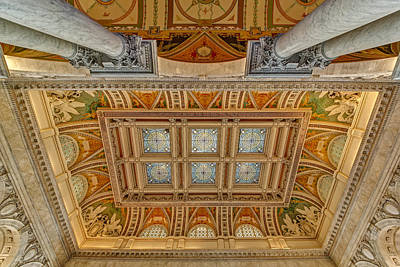 Main Hall Ceiling Library Of Congress Poster