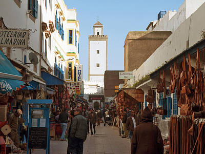 Main Market Street In Essaouira, Morocco Poster