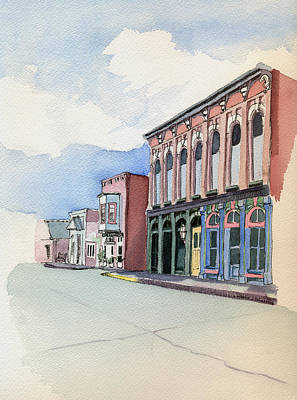 Main Street In Gosport Poster by Katherine Miller