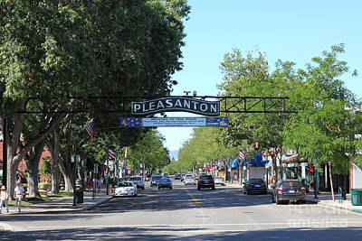 Main Street Pleasanton California 5d23979 Poster by Wingsdomain Art and Photography