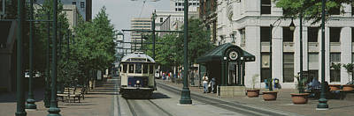 Main Street Trolley Court Square Poster by Panoramic Images