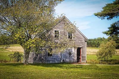 Maine Barn Poster by Wayne Meyer