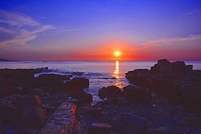Maine Coast Sunrise Poster