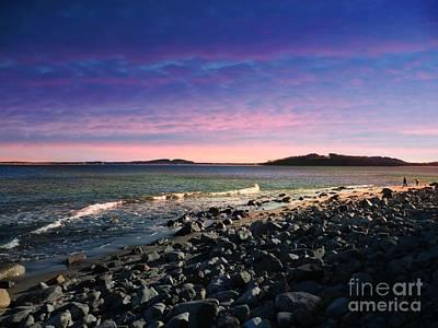 Maine Coastline #1 Poster by Marcia L Jones