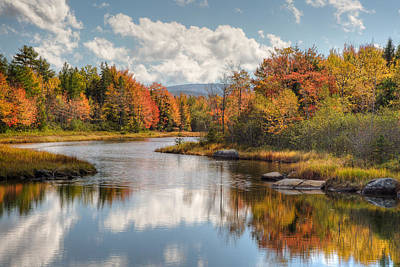 Maine Fall Foliage Photograph - Acadia Bar Harbor Area Poster by Bill Swindaman