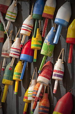 Maine Fishing Buoys Poster