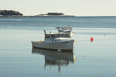 Maine Lobster Boats In Winter Poster