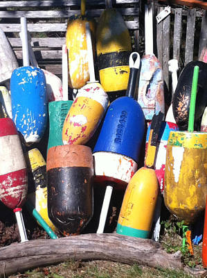 Poster featuring the photograph Maine Lobster Buoys by Denyse Duhaime