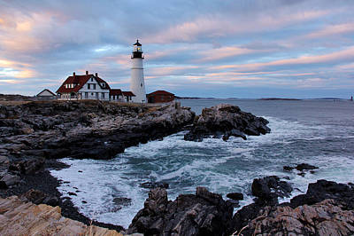 Maine Portland Headlight Poster