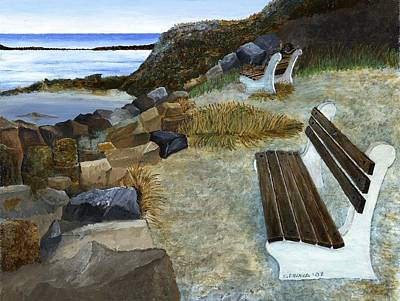 Maine Seascape Poster by Carl Frankel