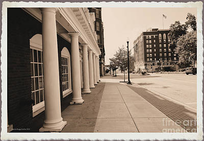Maine Street Pillars 2 Poster by Luther   Fine Art