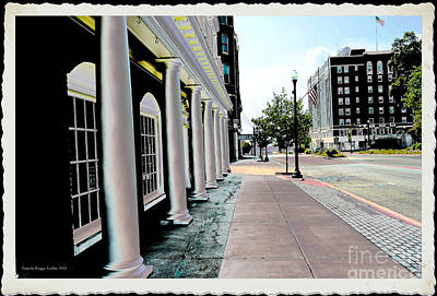City  - Maine Street Pillars - Luther Fine Art Poster by Luther   Fine Art
