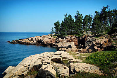Maine's Rocky Coastline Poster by Mountain Dreams