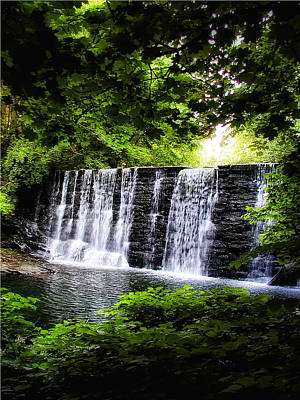 Mainline Waterfall Poster by Bill Cannon