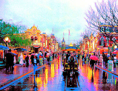 Poster featuring the photograph Mainstreet Disneyland by David Lawson