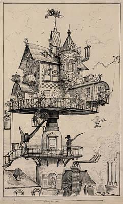 Maison Tournante Arienne 1883 Poster by Daniel Hagerman