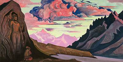 Maitreya The Conqueror Poster by Nicholas Roerich
