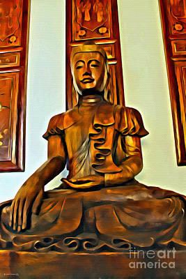 Majestic Buddha Poster
